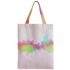 Abstract Color Pattern Colorful Zipper Classic Tote Bag