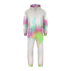 Abstract Color Pattern Colorful Hooded Jumpsuit (kids)