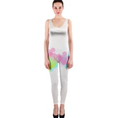 Abstract Color Pattern Colorful Onepiece Catsuit