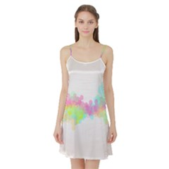 Abstract Color Pattern Colorful Satin Night Slip