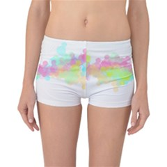 Abstract Color Pattern Colorful Reversible Bikini Bottoms