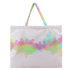 Abstract Color Pattern Colorful Zipper Large Tote Bag