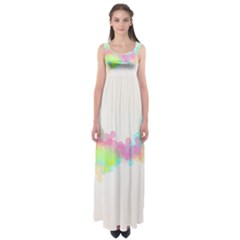 Abstract Color Pattern Colorful Empire Waist Maxi Dress