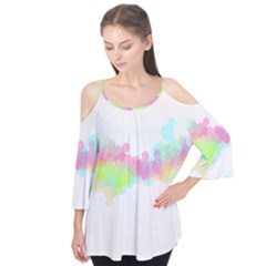 Abstract Color Pattern Colorful Flutter Tees