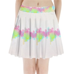 Abstract Color Pattern Colorful Pleated Mini Skirt