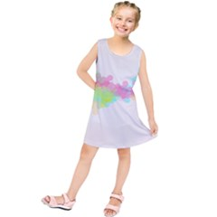 Abstract Color Pattern Colorful Kids  Tunic Dress