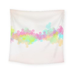 Abstract Color Pattern Colorful Square Tapestry (Small)
