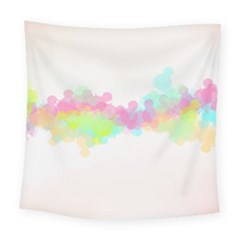 Abstract Color Pattern Colorful Square Tapestry (Large)