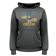 Grey i m a childcare provider, but you can call me wonder woman  Women s Pullover Hoodie