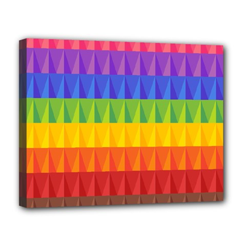 Abstract Pattern Background Canvas 14  X 11
