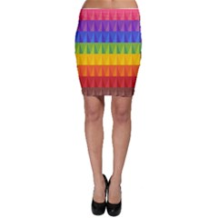 Abstract Pattern Background Bodycon Skirt