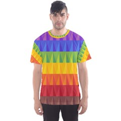Abstract Pattern Background Men s Sport Mesh Tee