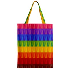 Abstract Pattern Background Zipper Classic Tote Bag