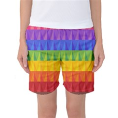 Abstract Pattern Background Women s Basketball Shorts