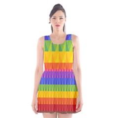 Abstract Pattern Background Scoop Neck Skater Dress