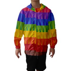 Abstract Pattern Background Hooded Wind Breaker (Kids)