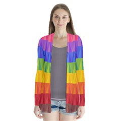 Abstract Pattern Background Cardigans