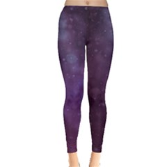 Abstract Purple Pattern Background Leggings