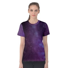Abstract Purple Pattern Background Women s Cotton Tee