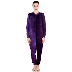 Abstract Purple Pattern Background Onepiece Jumpsuit (ladies)