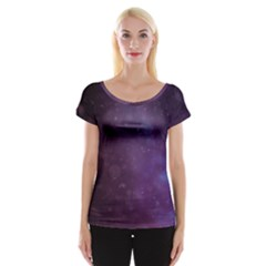 Abstract Purple Pattern Background Women s Cap Sleeve Top