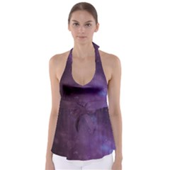 Abstract Purple Pattern Background Babydoll Tankini Top