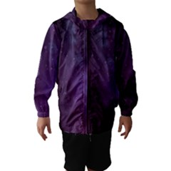 Abstract Purple Pattern Background Hooded Wind Breaker (kids)