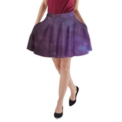 Abstract Purple Pattern Background A Line Pocket Skirt