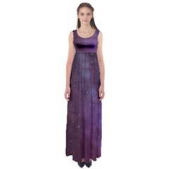 Abstract Purple Pattern Background Empire Waist Maxi Dress
