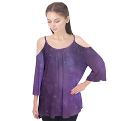 Abstract Purple Pattern Background Flutter Tees