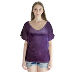 Abstract Purple Pattern Background Flutter Sleeve Top