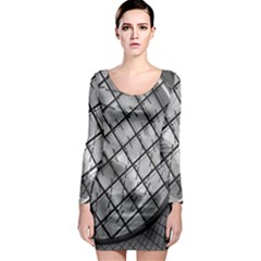 Architecture Roof Structure Modern Long Sleeve Bodycon Dress