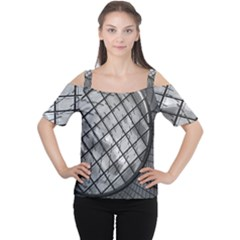 Architecture Roof Structure Modern Women s Cutout Shoulder Tee