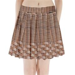 Armchair Folder Canework Braiding Pleated Mini Skirt