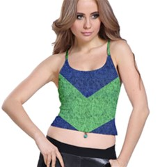 Arrow Texture Background Pattern Spaghetti Strap Bra Top