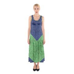 Arrow Texture Background Pattern Sleeveless Maxi Dress