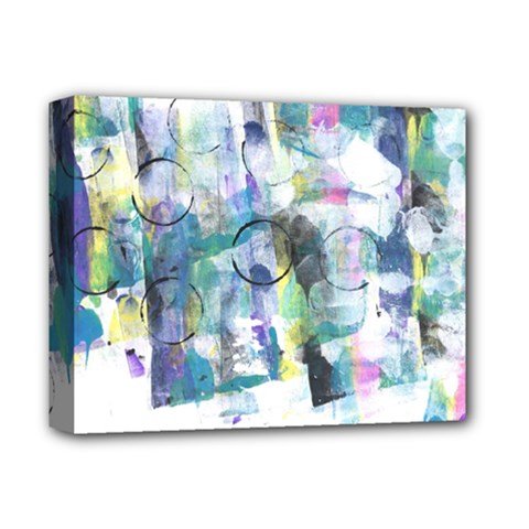 Background Color Circle Pattern Deluxe Canvas 14  X 11