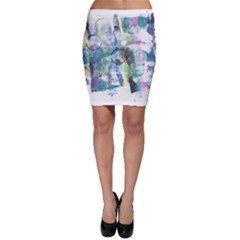 Background Color Circle Pattern Bodycon Skirt