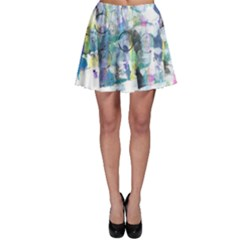 Background Color Circle Pattern Skater Skirt