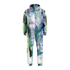 Background Color Circle Pattern Hooded Jumpsuit (Kids)