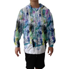 Background Color Circle Pattern Hooded Wind Breaker (kids)