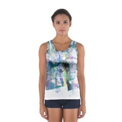 Background Color Circle Pattern Women s Sport Tank Top
