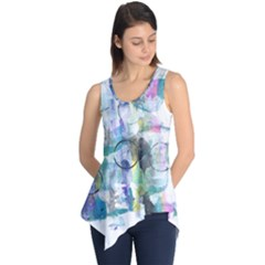 Background Color Circle Pattern Sleeveless Tunic
