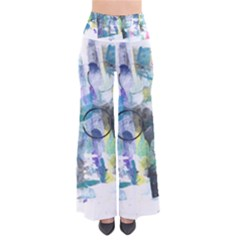 Background Color Circle Pattern Pants
