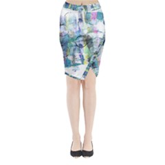 Background Color Circle Pattern Midi Wrap Pencil Skirt