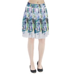 Background Color Circle Pattern Pleated Skirt