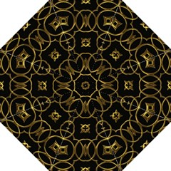 Black And Gold Pattern Elegant Geometric Design Straight Umbrellas