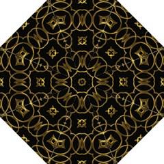 Black And Gold Pattern Elegant Geometric Design Golf Umbrellas