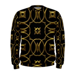Black And Gold Pattern Elegant Geometric Design Men s Sweatshirt