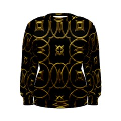 Black And Gold Pattern Elegant Geometric Design Women s Sweatshirt